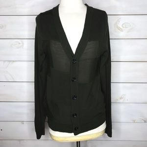 Surface to Air   Button Front Merino Wool Cardigan